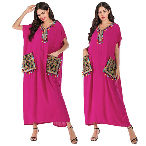Pink with Pockets Women Beach Cover Up