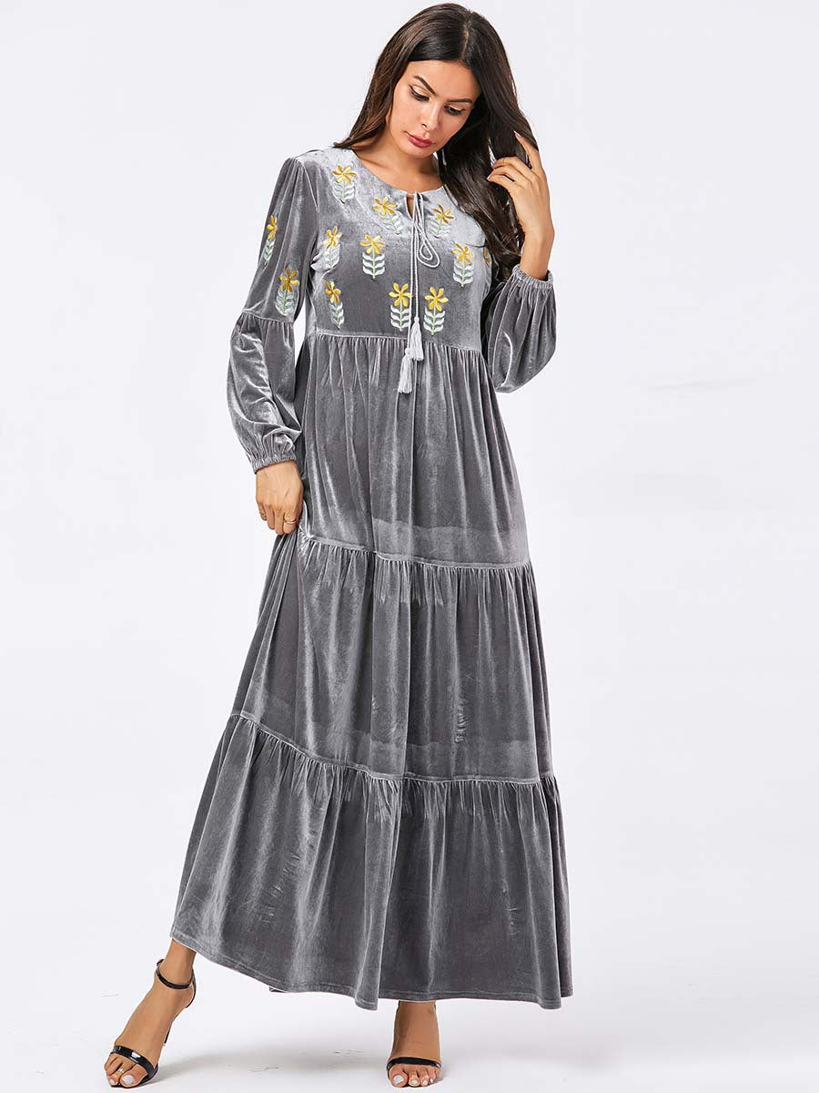 Elegant Velvet Dress Jubah