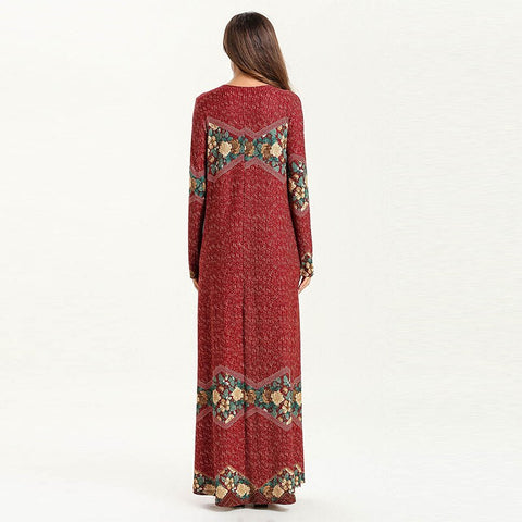 Middle East Arab Simple Stylish Printed Dress
