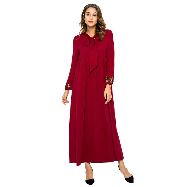 Red Long Dress Moroccan Kaftan Cocktail