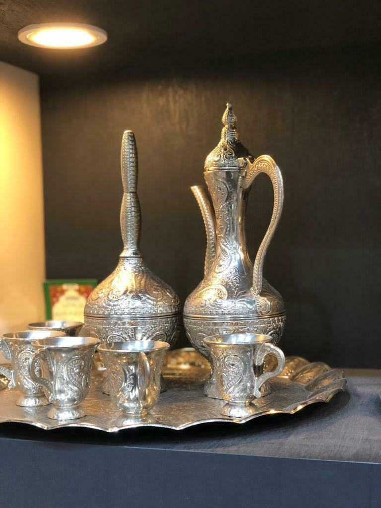 Antique Zamzam Drinking Set Silver Plated Moroccan Excellent Eid al adha gift
