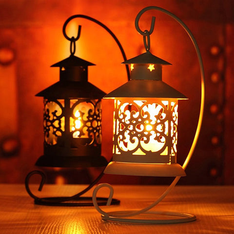 Iron Moroccan Style Candlestick Candle Holder Candle Stand Light Holder European Style Home Decoration Lantern VBT05 T35