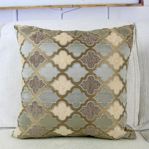 Grey/Coffee Cushion Cover Chenille Moroccan Style Home Decorative Pillow Case 45x45cm