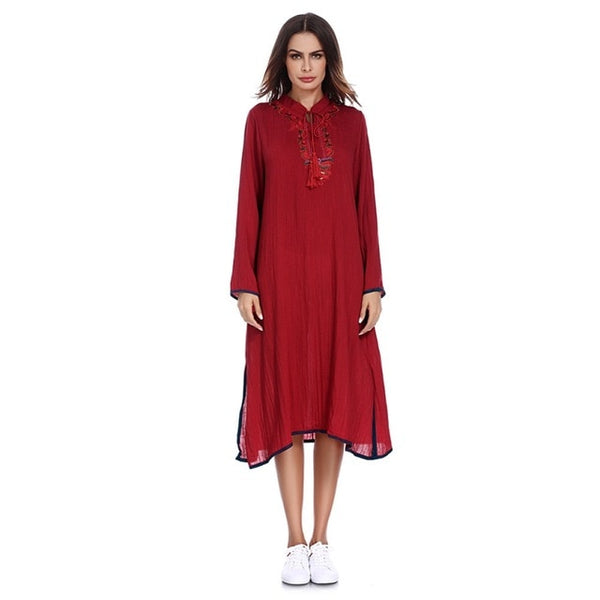 Women Dress Middle East Abaya Moroccan Style