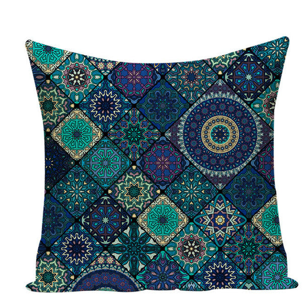 Cushion cover geometric colorful decorative cushions Hot Sale linen pillow cover cushion cover moroccan  decorative cushion