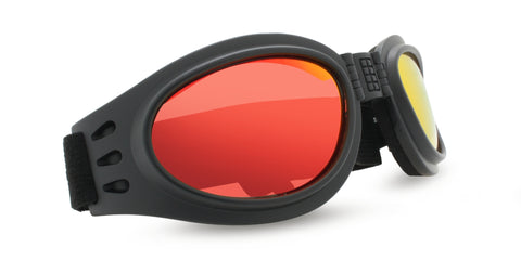 FOLDING GOGGLE RED MIRROR