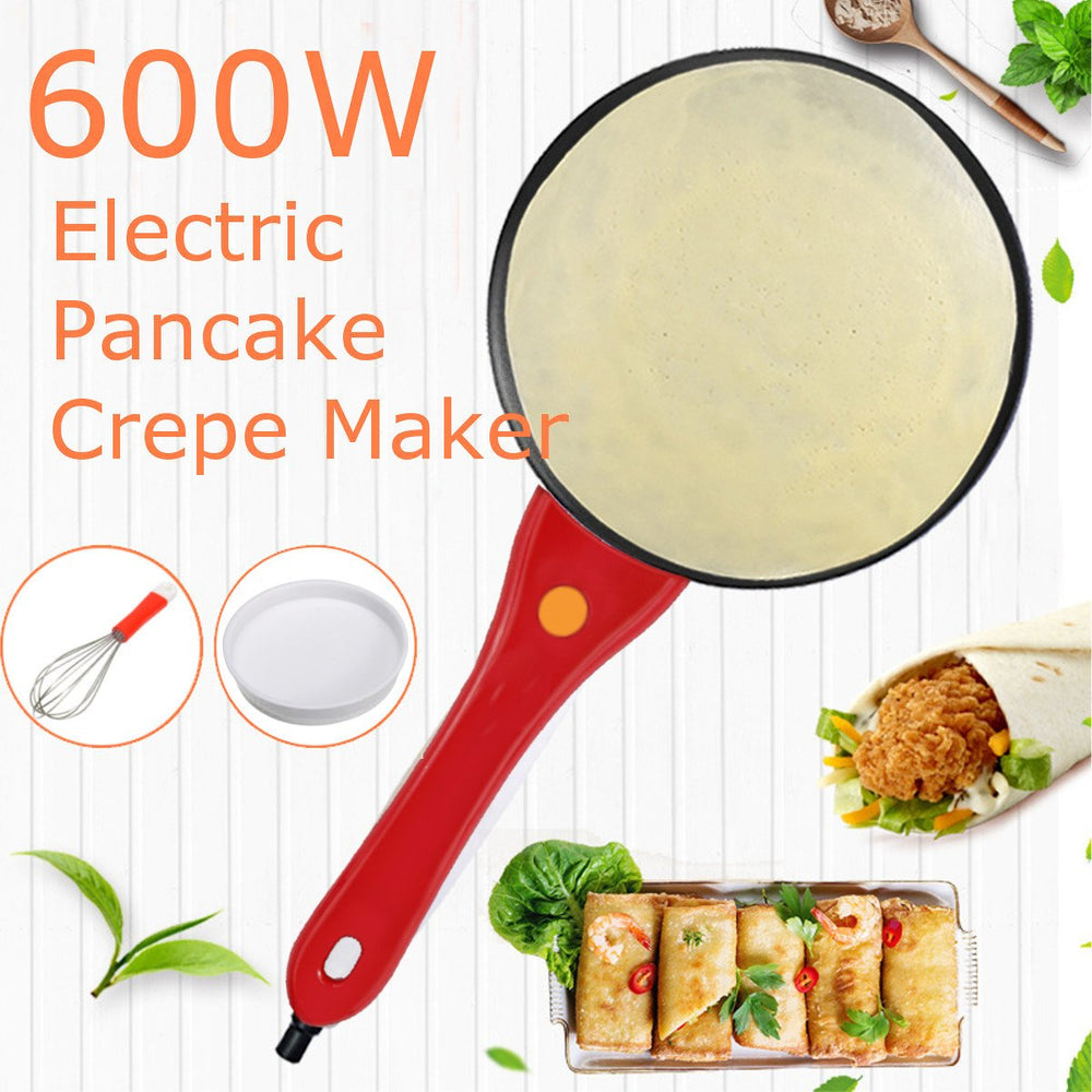 Kitchen Electric Griddle Pancake Baking Crepe Maker Pan Pizza Cake Non-Stick Machine Home DIY Cooking +Egg Beater