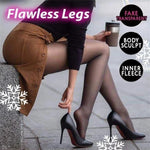 BARE LEG ARTIFACT WARM VELVET TROUSERS SOCKS