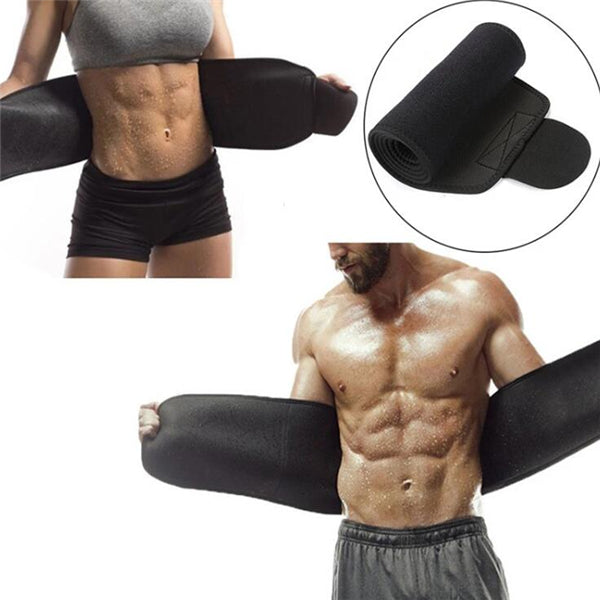 ADJUSTABLE FAT BURNER WAIST TRIMMER FAST WEIGHT LOSS SWEAT BELT