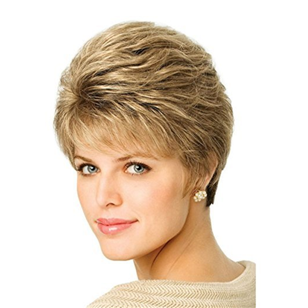 GOLD Women Hair Synthetic Wig Full Short Wigs