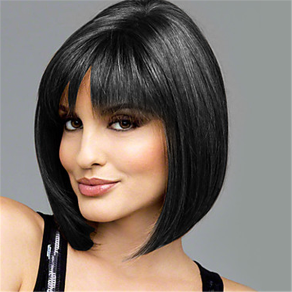 Synthetic Hair Capless Natural Straight Hair Bob Cut Wigs/ Short Hairstyles 2019