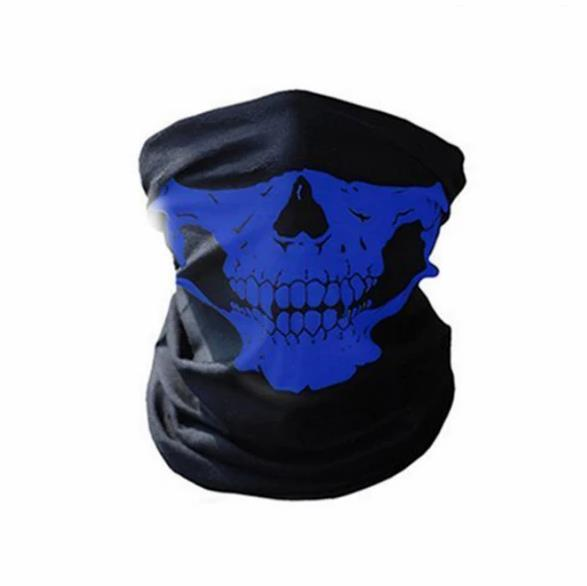 Motorcycle Skull Ghost Face Mask to Keep Warm and Windproof Halloween Seamless Multi-function Magic Headscarf