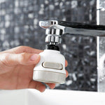 Kitchen Bathroom Water Saving Rotation Extended Shower Head