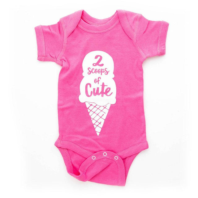 2 Scoops of Cute Onesie (0-3 mths)