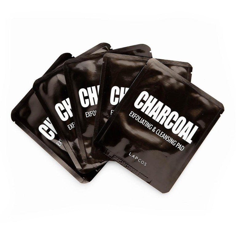 Lapcos Charcoal Exfoliating & Cleansing Pads (5)