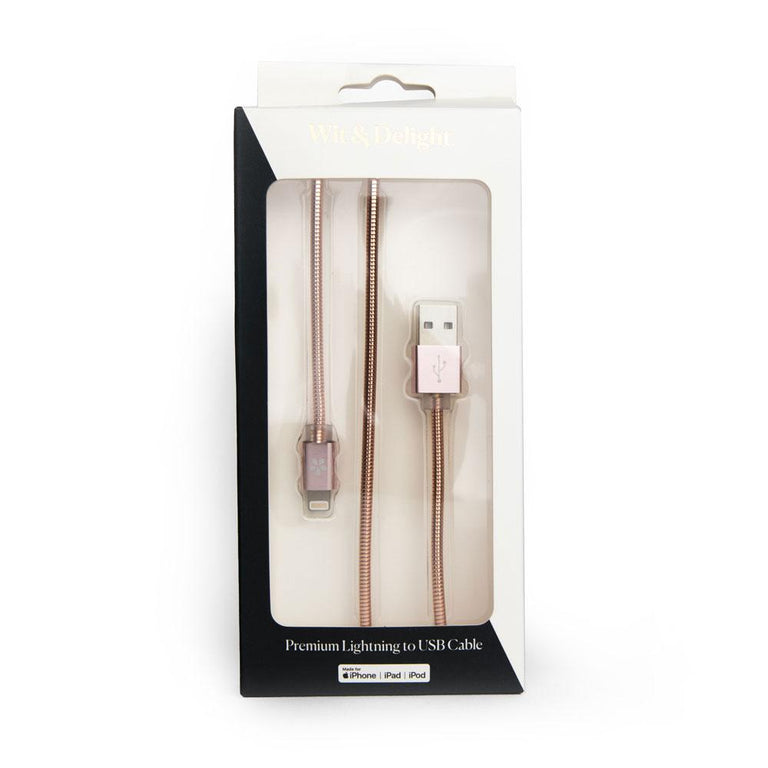 W+P Rose Gold Lightning Cable