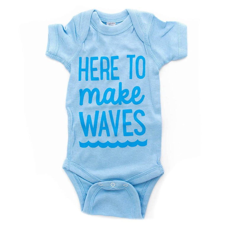 Here to Make Waves Onesie (0-3 mths)