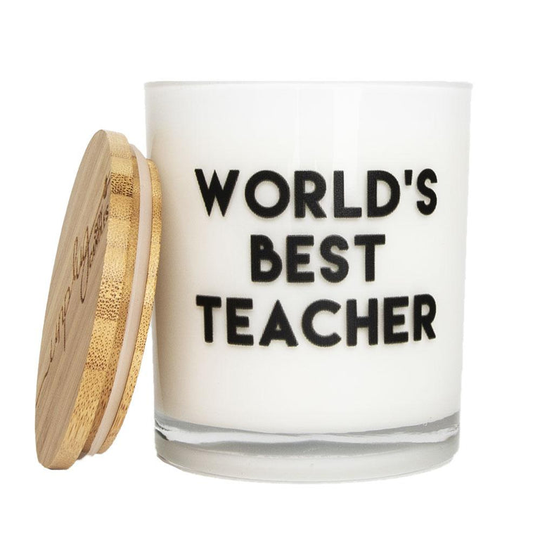 World's Best Teacher Candle (Soy/Sugared Citrus/11.5 oz)