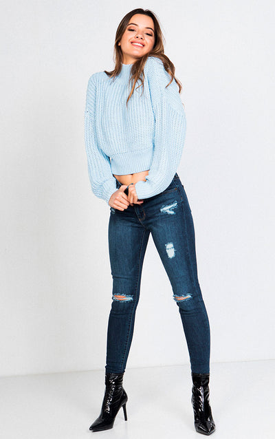 TEXTURED MOCK NECK OVERSIZED LONG SLEEVED SWEATER