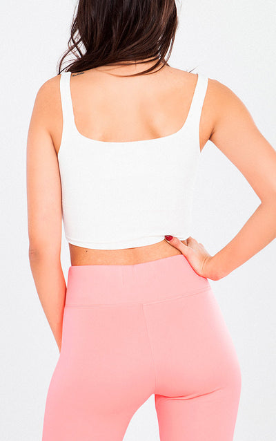KNIT SQUARE NECK CROP TOP