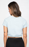 CROPPED SHORT SLEEVE CREWNECK TOP
