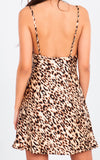 ANIMAL PRINT SATIN CAMI DRESS
