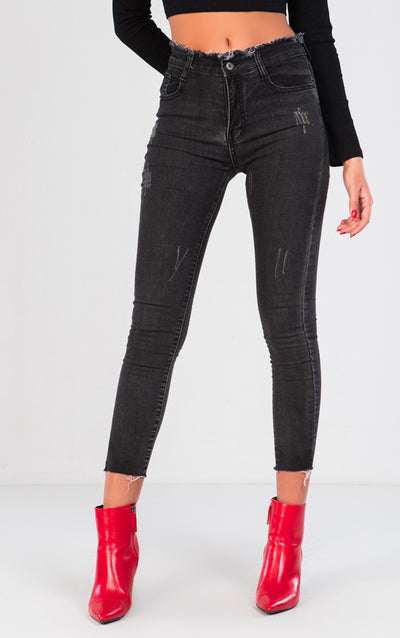 HIGH-WAISTED SKINNY JEANS COLECCIÓN LUCÍA BELLIDO