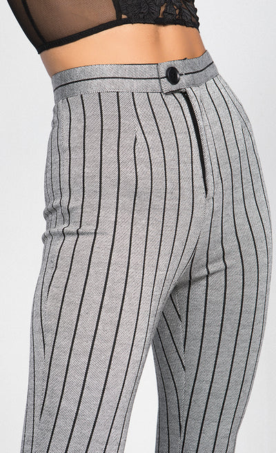 PINSTRIPE FLARED TROUSERS FLARED TROUSERS