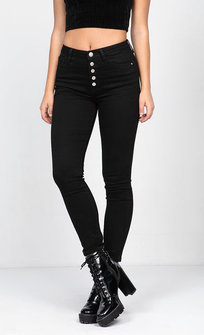 HIGH RISE SKINNY CROP JEANS