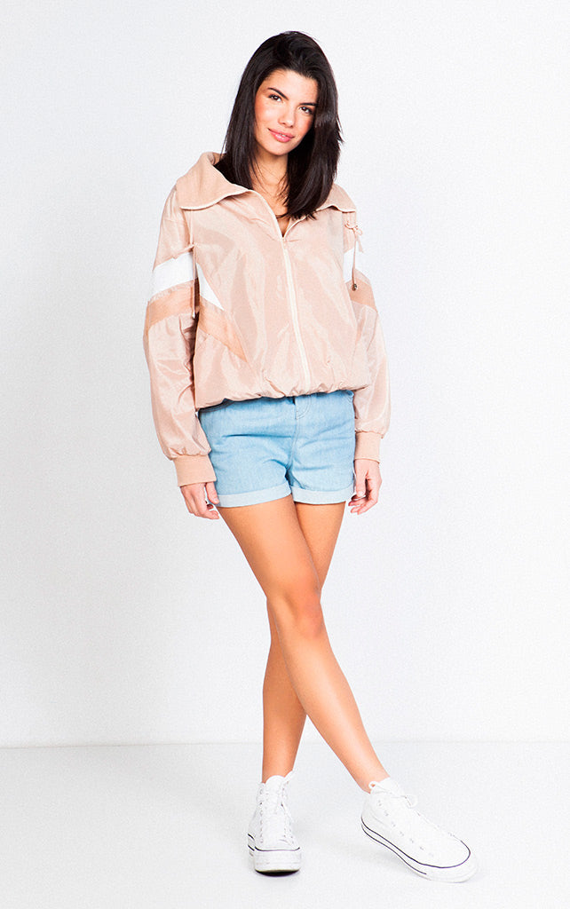 WOVEN PAPERBAG DENIM SHORTS