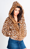 CHEETAH PRINT FAUX FUR JACKET