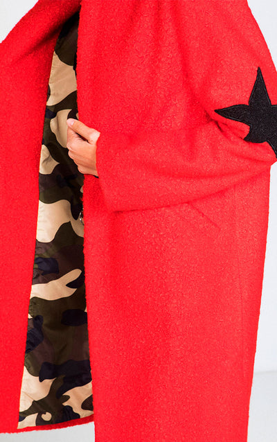 LONG STAR PATCHED COAT