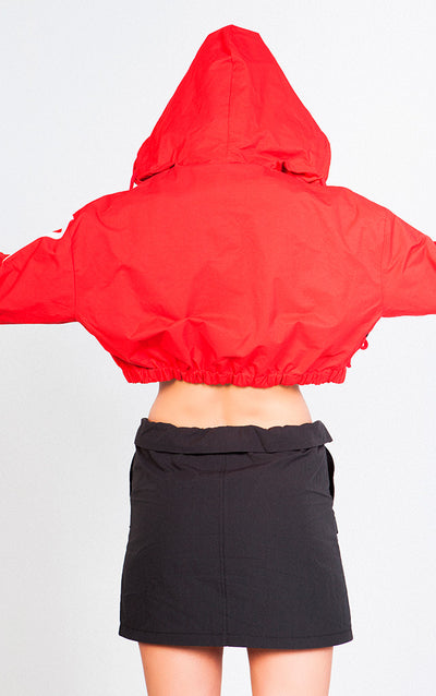 COLORBLOCK CROPPED WINDBREAKER JACKET