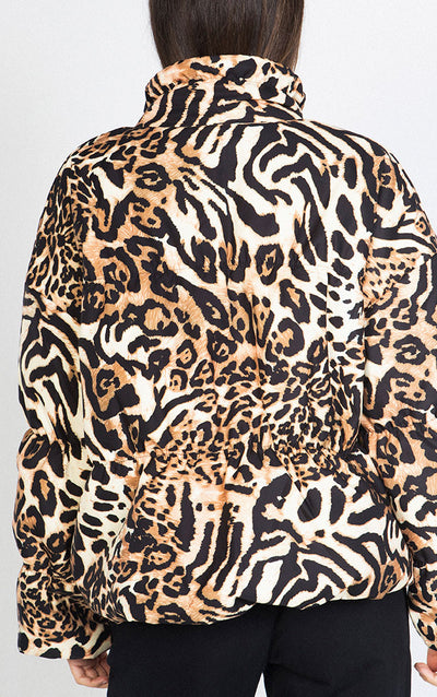 LEOPARD PUFFY JACKET