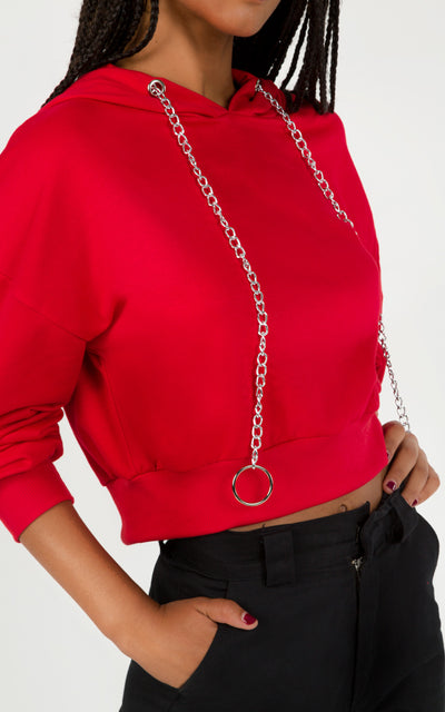 CROPPED SWEATSHIRT CHAIN RING