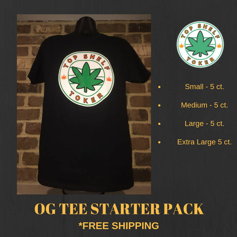 OG Tee Starter Pack - 5 of each size: S, M, L, XL