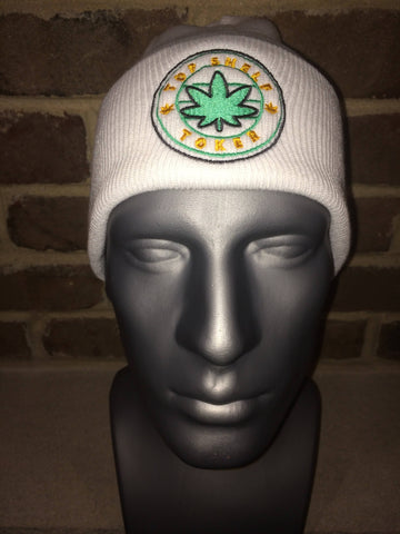 Top Shelf Toker Winter Hat (White)
