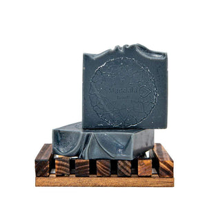 Activated charcoal soap bar. Made with eucalyptus, mint and tea tree. Detox your body and mind