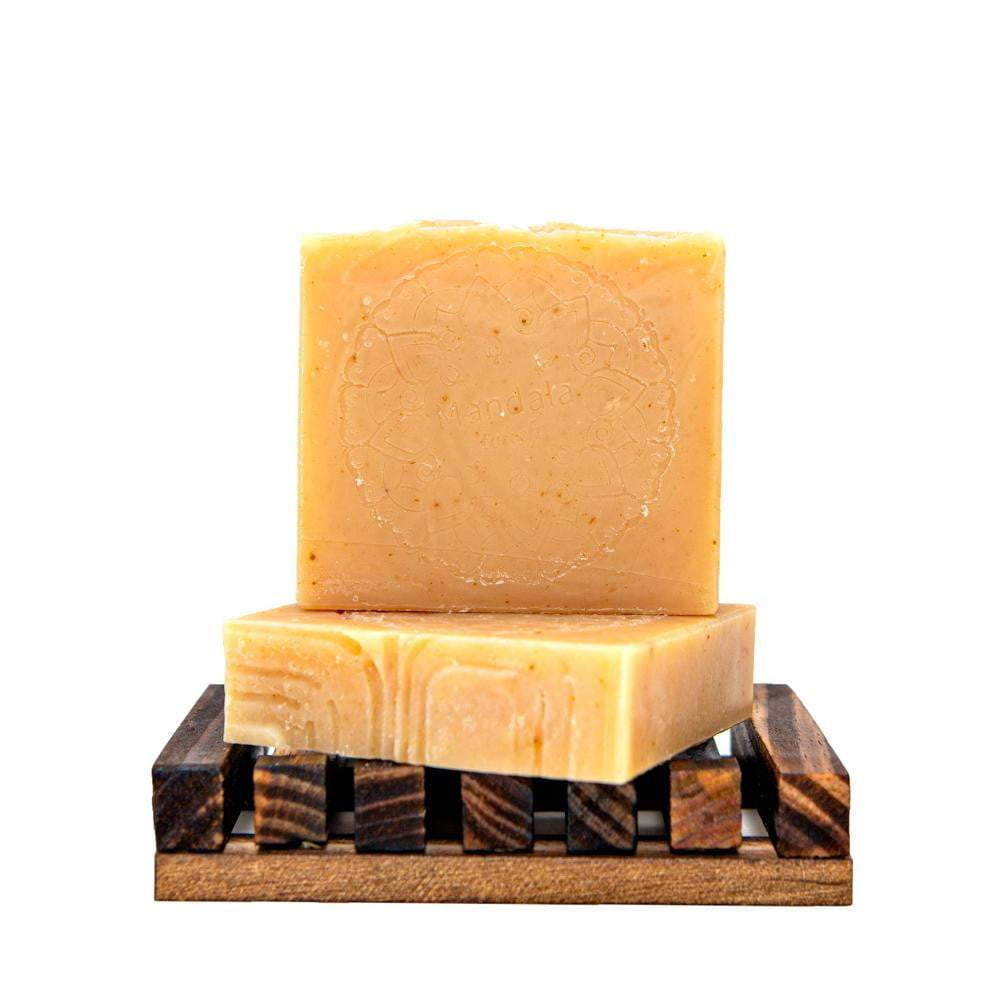 Orange mint soap bar, energizing and refreshing. Perfect for morning showers.