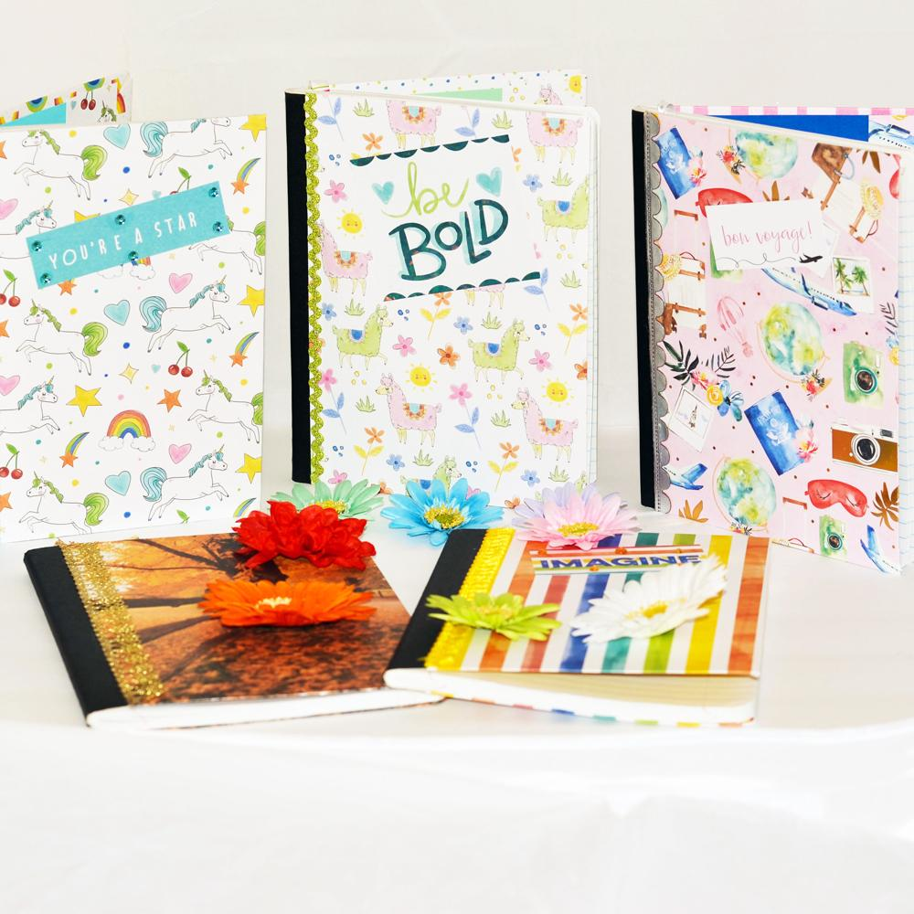 journal books, bound books, decorative junk journals for planners and crafter