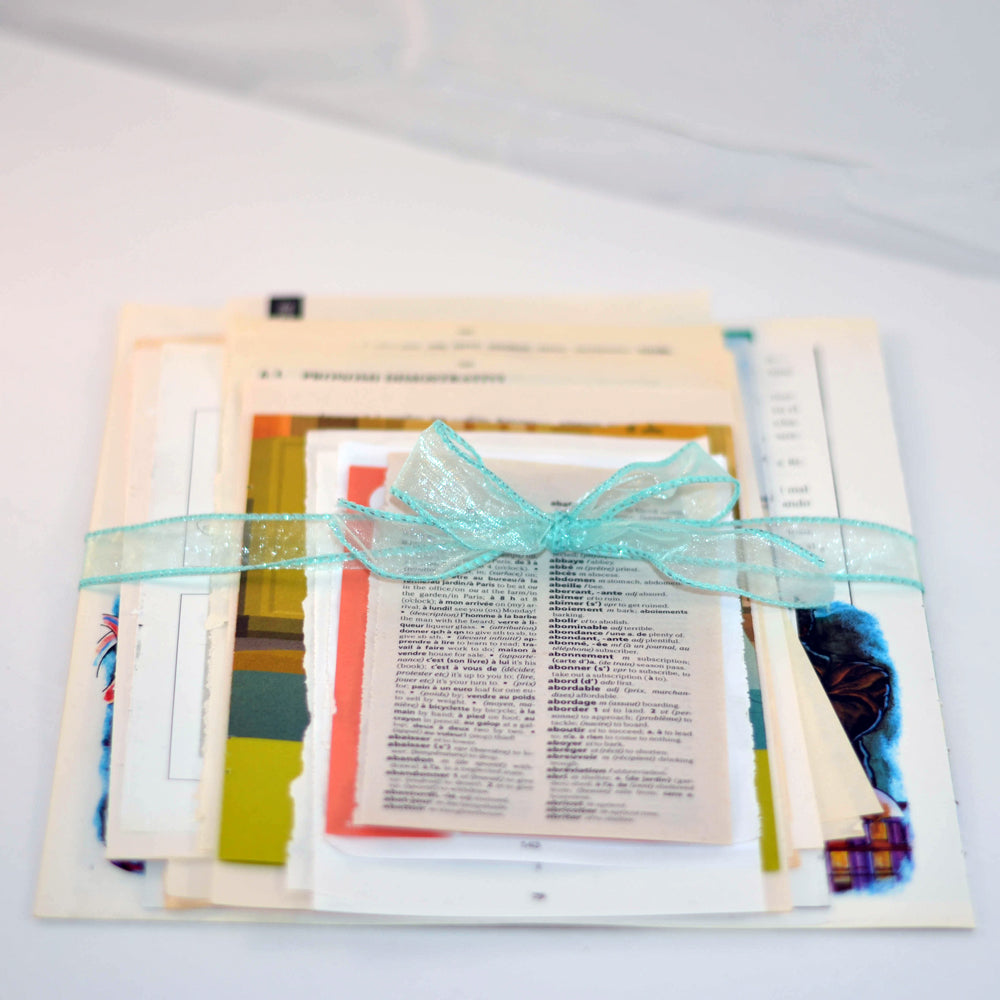 foreign language book pages, original, not reproduction