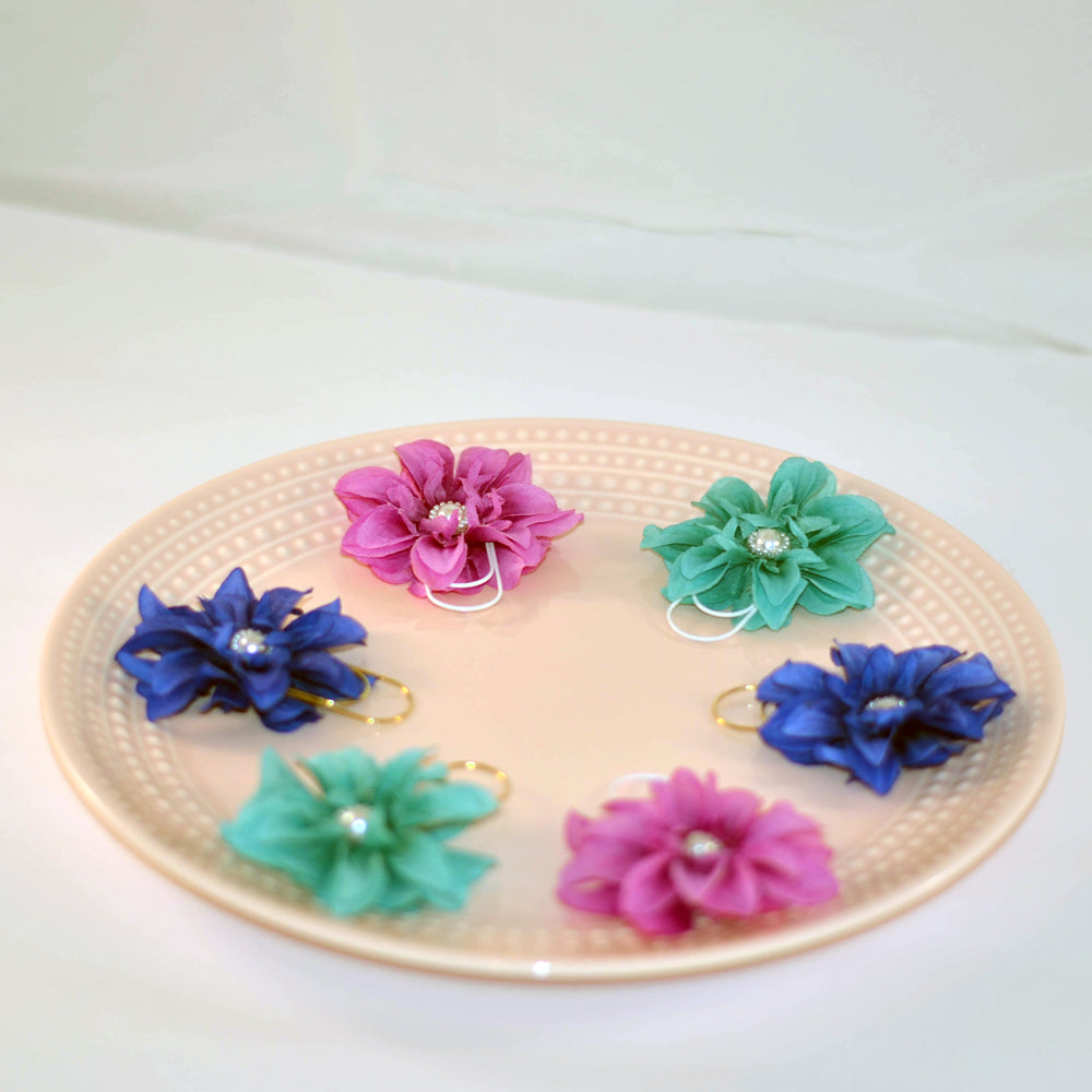double sided flower page clips for planners, journals, and crafting