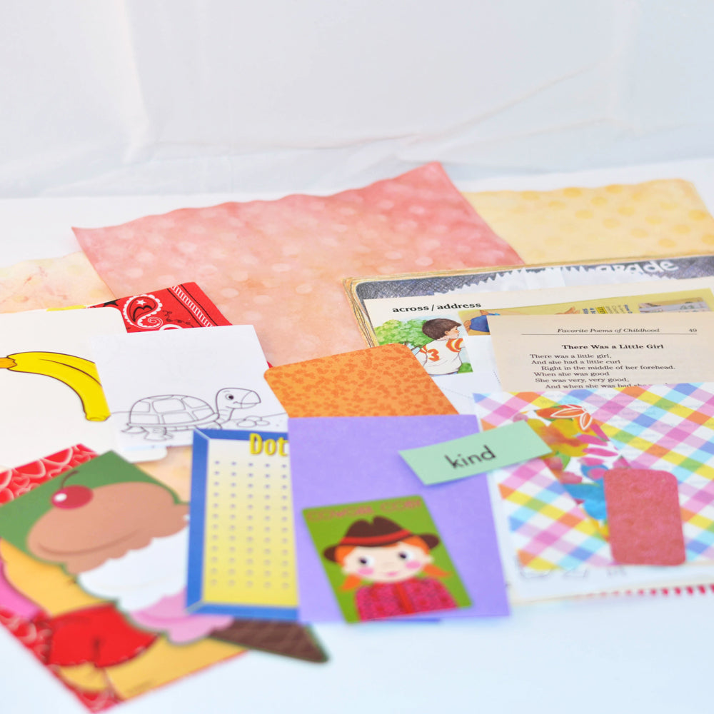 junk journal kits in kid theme