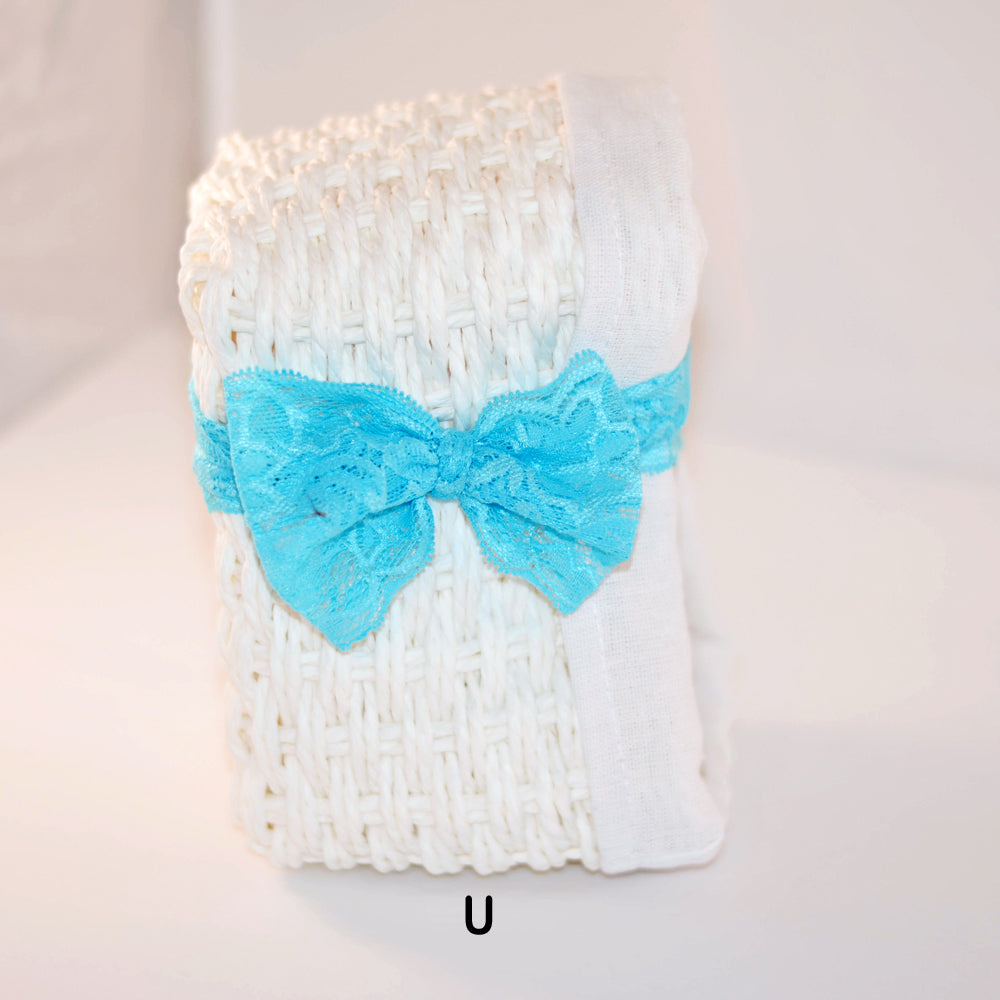 sweet blue planner band, bow planner band, elastic