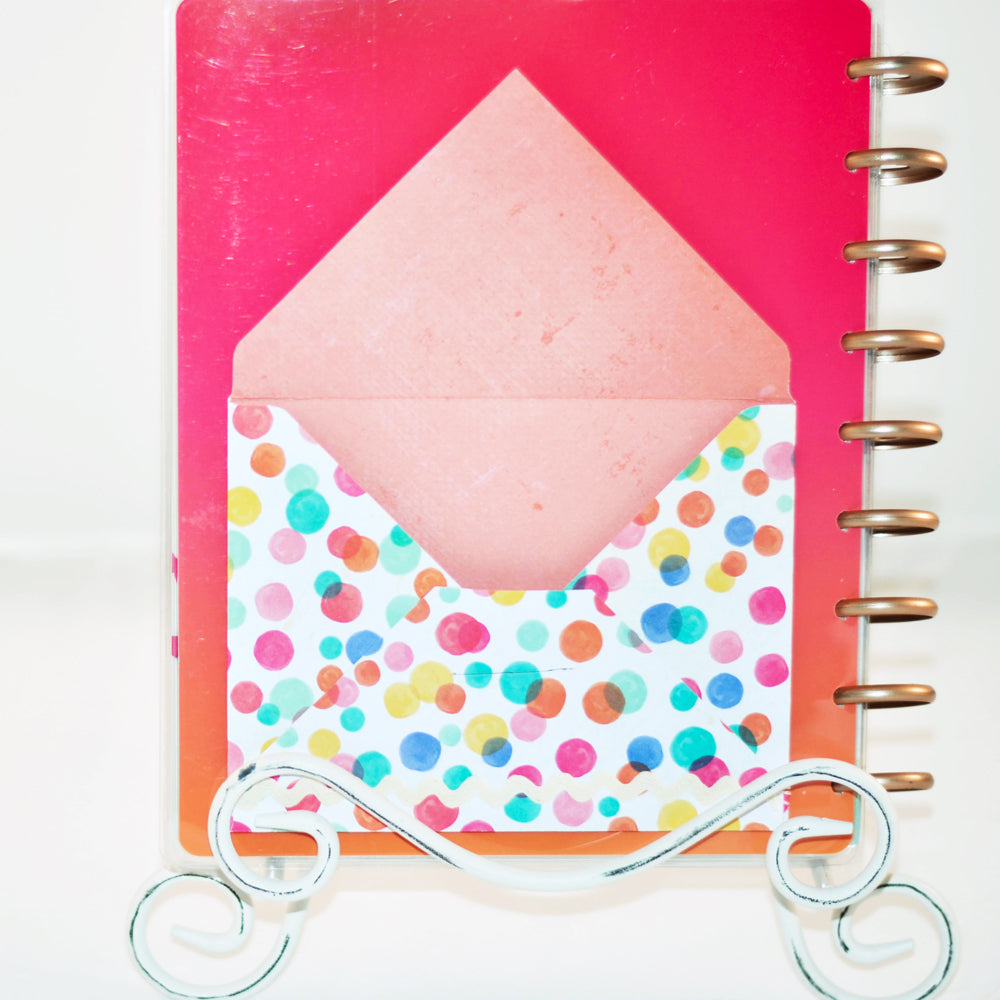 pocket envelope, add on, planner pocket