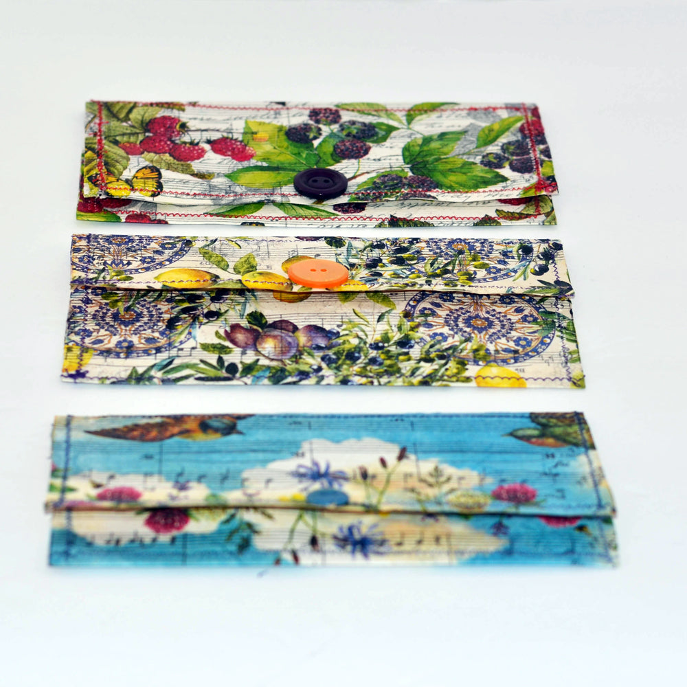 handmade decoupaged paper envelopes