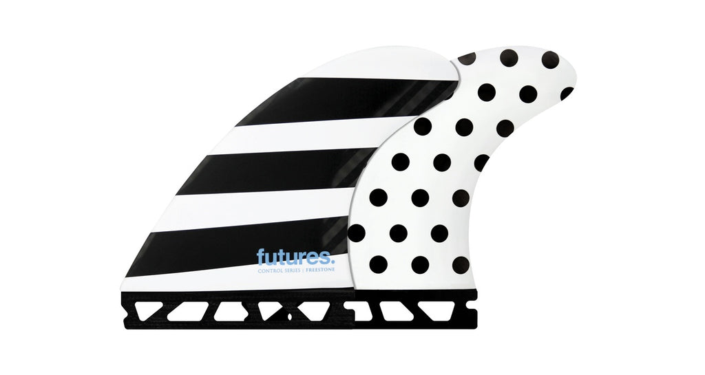 FUTURES // JACK FREESTONE-1 CONTROL SERIES FIBERGLASS THRUSTER - POLKA/STRIPES