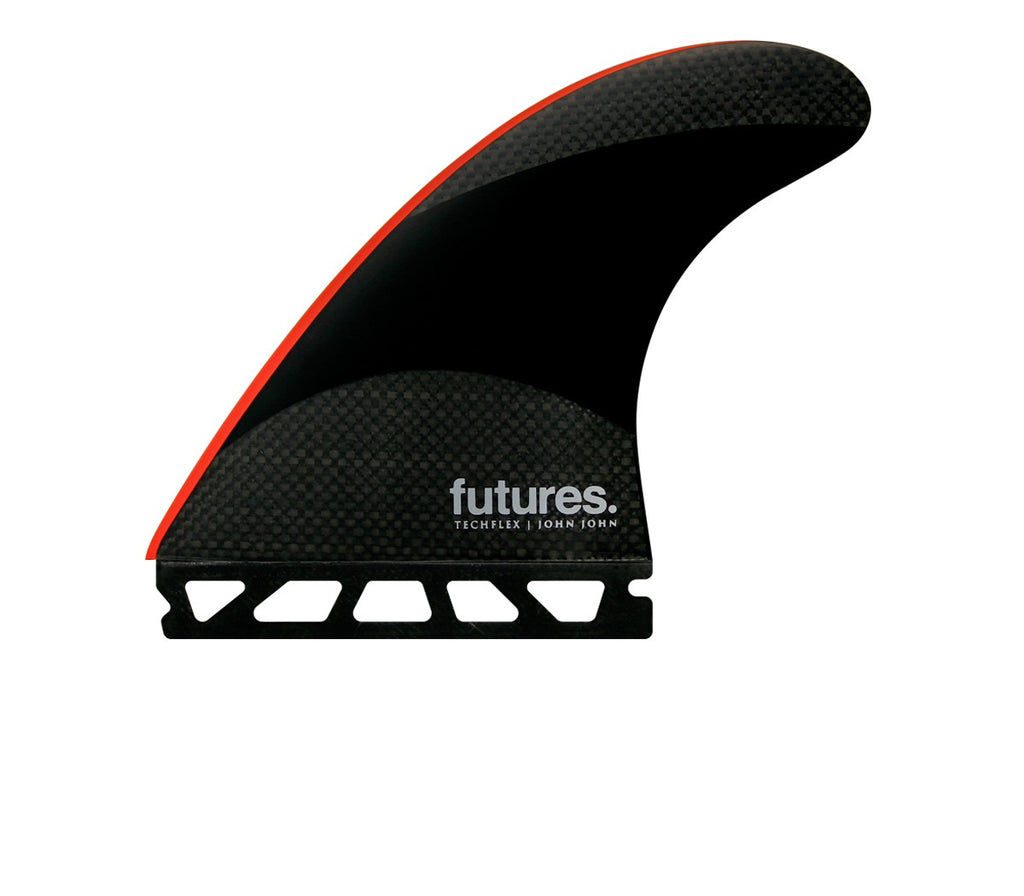 FUTURES // JJ-2 LARGE TECHFLEX THRUSTER - BLACK/BRIGHT RED