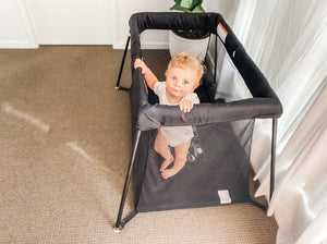 PLAYYARD AND TRAVEL COT (INSIDE AND OUTSIDE PLAY)
