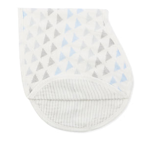 aden + anais metallic blue moon birch silky soft burpy bib single